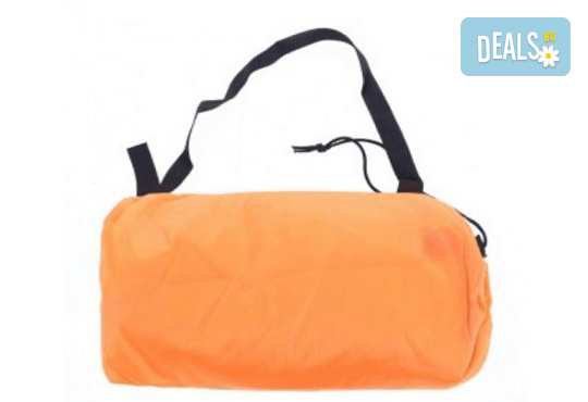 Голям надуваем шезлонг в зелено или оранжево + чанта за транспортиране от Магнифико! - Снимка 3