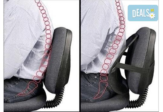 Анатомична облегалка за стол или автомобил + турмалинова яка от Магнифико! - Снимка 2