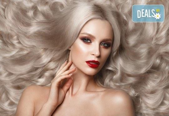 Нова визия! Боядисване с боя на салона, терапия с маска и оформяне на косата със сешоар в Салон за красота Дъга! - Снимка 2