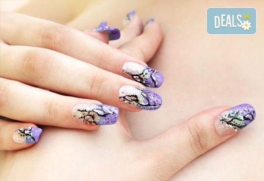 Ноктопластика с удължители или с изграждане и рисувани декорации в Студио за маникюр Vess Nails - Снимка 1