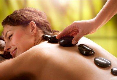 100% релакс! Пакет 3 масажа със злато и Hot stone, шоколад и зонотерапия, арома масаж с етерични масла в луксозния SPA център Senses Massage & Recreation! - Снимка