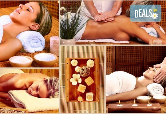 100% здраве! Пакет от 3 оздравителни масажа: дълбок масаж със сусамово масло и зонотерапия, оздравителен масаж с емулсия витамини, масаж с мурсалски чай и терапия кварцова лампа в Senses Massage & Recreation! - Снимка 1
