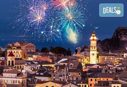 Нова година на о. Корфу, Гърция! 3 нощувки със закуски и вечери в Olympion village 3+*, транспорт, водач и посещение на двореца Ахилион! - Снимка 1