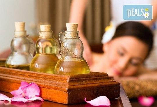 Класически болкоуспокояващ масаж на гръб, врат и раменен пояс с масло от манго в студио за красота Нимфея! - Снимка 1