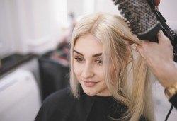 Нова прическа! Подстригване, масажно измиване и оформяне със сешоар в салон за красота Коса и Грим! - Снимка