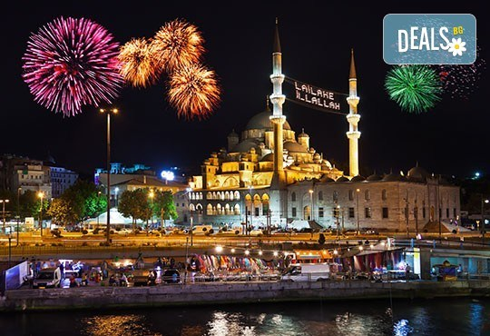 5-звездна Нова година в Истанбул: 3 нощувки на база НВ, транспорт и програма