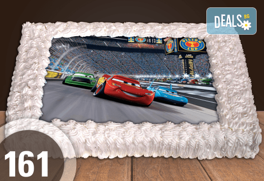 С любима снимка! Голяма детска торта 20, 25 или 30 парчета със снимка на любим герой от Сладкарница Джорджо Джани! - Снимка 47
