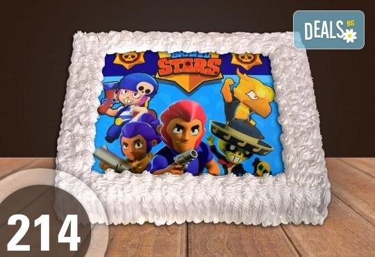 С любима снимка! Голяма детска торта 20, 25 или 30 парчета със снимка на любим герой от Сладкарница Джорджо Джани! - Снимка 97