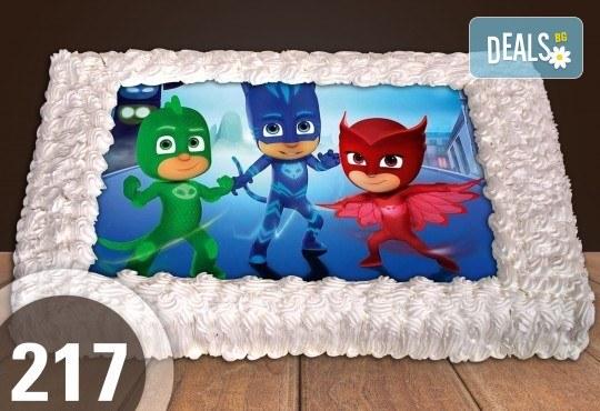 С любима снимка! Голяма детска торта 20, 25 или 30 парчета със снимка на любим герой от Сладкарница Джорджо Джани! - Снимка 100