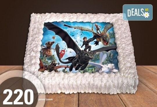 Голяма детска торта 20, 25 или 30 парчета със снимка на любим герой от Сладкарница Джорджо Джани - Снимка 112
