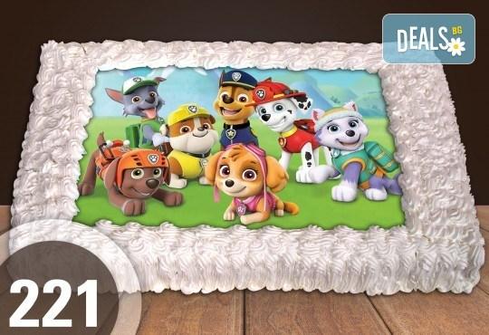 С любима снимка! Голяма детска торта 20, 25 или 30 парчета със снимка на любим герой от Сладкарница Джорджо Джани! - Снимка 104