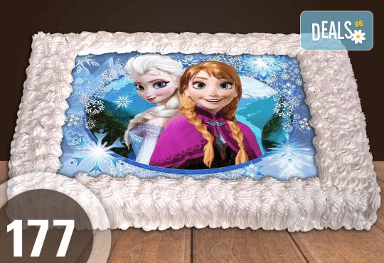 С любима снимка! Голяма детска торта 20, 25 или 30 парчета със снимка на любим герой от Сладкарница Джорджо Джани! - Снимка 60