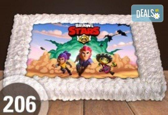 Голяма детска торта 20/ 25 парчета със снимка от Сладкарница Джорджо