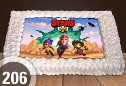 С доставка през април, май и юни! Голяма детска торта 20, 25 или 30 парчета със снимка на любим герой от Сладкарница Джорджо Джани - Снимка
