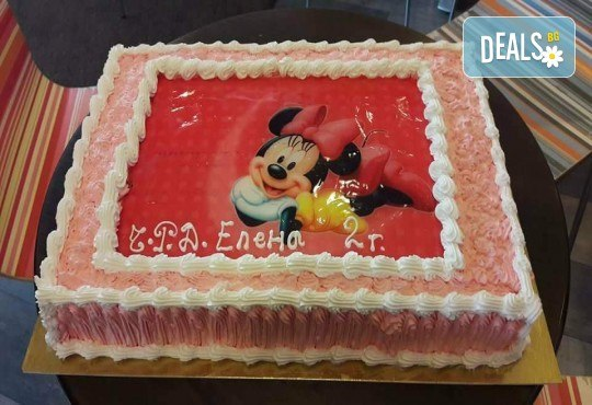 С любима снимка! Голяма детска торта 20, 25 или 30 парчета със снимка на любим герой от Сладкарница Джорджо Джани! - Снимка 10