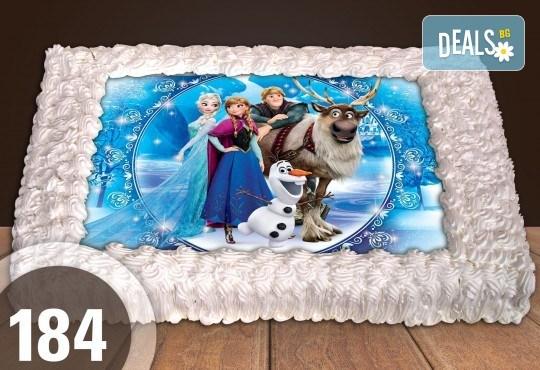 С любима снимка! Голяма детска торта 20, 25 или 30 парчета със снимка на любим герой от Сладкарница Джорджо Джани! - Снимка 68