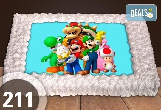 С доставка през април, май и юни! Торти за момчета: вземете голяма торта 20/ 25/ 30 парчета със снимка на герои от любимите детски филмчета - Нинджаго, Костенурките Нинджа, Спайдърмен и други от Сладкарница Джорджо Джани - Снимка 45