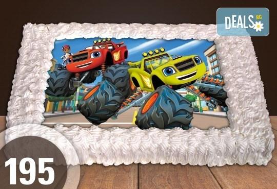 Торти за момчета! Вземете голяма торта 20/ 25/ 30 парчета със снимка на герои от любимите детски филмчета - Нинджаго, Костенурките Нинджа, Спайдърмен и други от Сладкарница Джорджо Джани! - Снимка 1