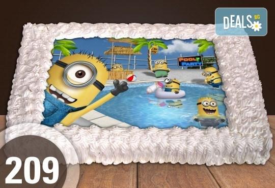 С доставка през април, май и юни! Торти за момчета: вземете голяма торта 20/ 25/ 30 парчета със снимка на герои от любимите детски филмчета - Нинджаго, Костенурките Нинджа, Спайдърмен и други от Сладкарница Джорджо Джани - Снимка 43