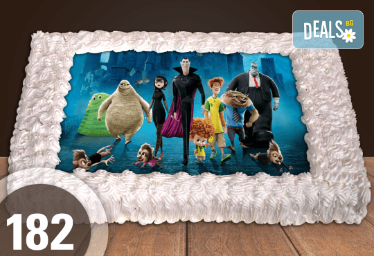 С доставка през април, май и юни! Торти за момчета: вземете голяма торта 20/ 25/ 30 парчета със снимка на герои от любимите детски филмчета - Нинджаго, Костенурките Нинджа, Спайдърмен и други от Сладкарница Джорджо Джани - Снимка 36