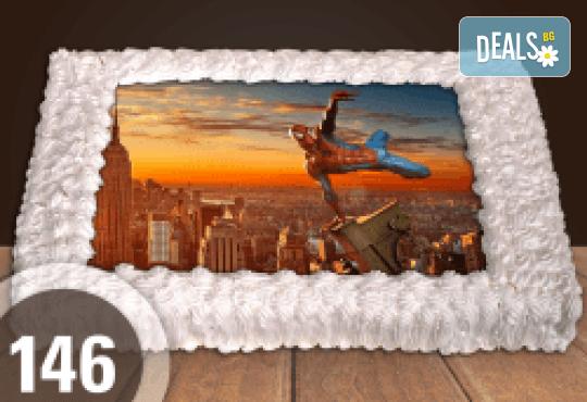 За момчета! Вземете голяма торта 20/ 25/ 30 парчета със снимка на герои от любимите детски филмчета - Ниднджаго, Костенурките Нинджа, Спайдърмен и други от Сладкарница Джорджо Джани! - Снимка 6