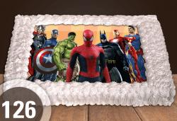 За момчета! Вземете голяма торта 20/ 25/ 30 парчета със снимка на герои от любимите детски филмчета - Ниднджаго, Костенурките Нинджа, Спайдърмен и други от Сладкарница Джорджо Джани! - Снимка