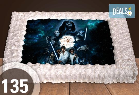С доставка през април, май и юни! Торти за момчета: вземете голяма торта 20/ 25/ 30 парчета със снимка на герои от любимите детски филмчета - Нинджаго, Костенурките Нинджа, Спайдърмен и други от Сладкарница Джорджо Джани - Снимка 19