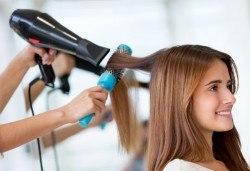 Подстригване, масажно измиване с дълбоко подхранващ шампоан и подсушаване от салон Make Trix в Белите брези - Снимка