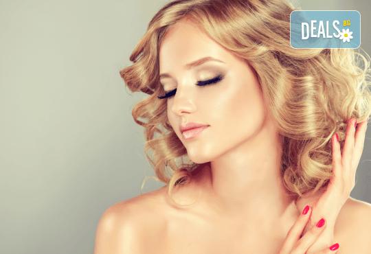 Изрусяване, матиране, арганова терапия с професионални продукти на Alfaparf Milano, масажно измиване, подстригване и прическа със сешоар в студио Beauty! - Снимка 1