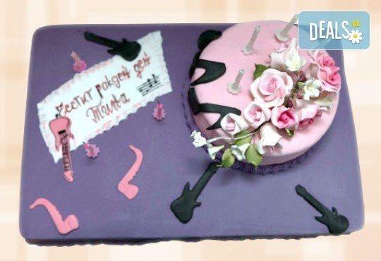 Цветя! Празнична торта с пъстри цветя, дизайн на Сладкарница Джорджо Джани - Снимка 36