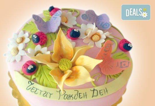 Цветя! Празнична торта с пъстри цветя, дизайн на Сладкарница Джорджо Джани - Снимка 17