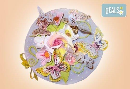 Цветя! Празнична торта с пъстри цветя, дизайн на Сладкарница Джорджо Джани - Снимка 31