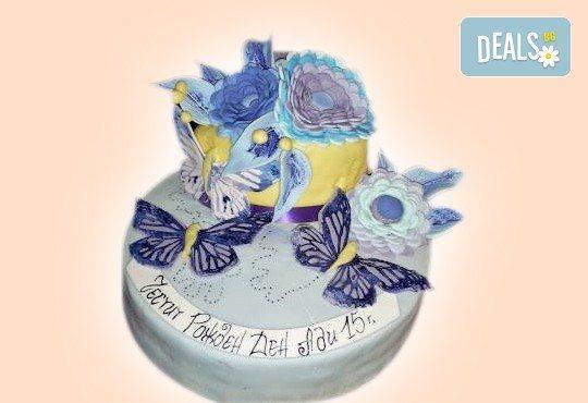 Цветя! Празнична торта с пъстри цветя, дизайн на Сладкарница Джорджо Джани - Снимка 20