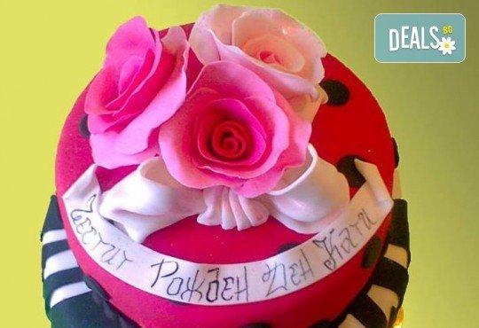 Цветя! Празнична торта с пъстри цветя, дизайн на Сладкарница Джорджо Джани - Снимка 34