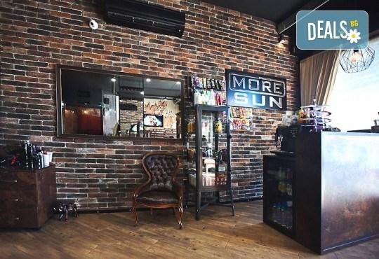 Класически маникюр с гел лак Bluesky и 2 авторски декорации на професионален принтер за маникюр + масаж на ръце от бар-маникюр Моre Sun в жк. Младост 3! - Снимка 7