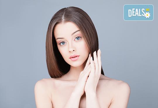 Погрижете се за косата си! Подстригване, масажно измиване, прав сешоар + кератинова преса, която подхранва косъма в дълбочина, или букли в соларно и козметично студио Моre Sun в жк. Младост 3! - Снимка 1