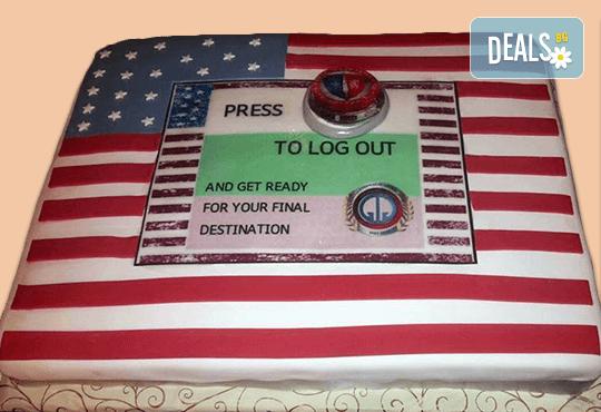 С Вашия бранд! Фирмена торта с лого и индивидуален дизайн от Сладкарница Джорджо Джани! - Снимка 4