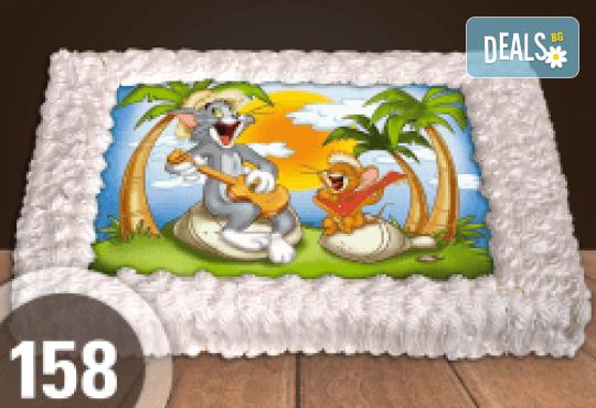 За най-малките! Голяма торта със снимка 20, 25 или 30 парчета за празника на Вашето дете с герой от филм от Сладкарница Джорджо Джани! - Снимка 3