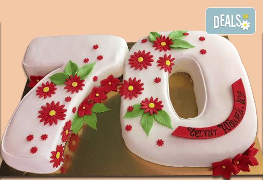 Цифри! Изкушаващо вкусна бутикова АРТ торта с цифри и размер по избор от Сладкарница Джорджо Джани - Снимка 6