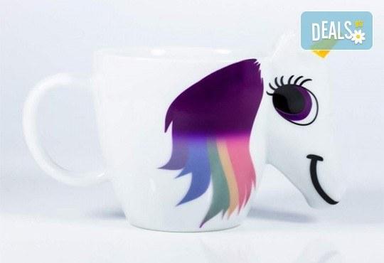 Изненадайте своето дете със сладка променяща цвета си 3D чаша с еднорог! - Снимка 3