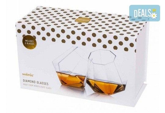 Нестандартно и оригинално! Вземете луксозен сет чаши за уиски с форма на диамант! - Снимка 4