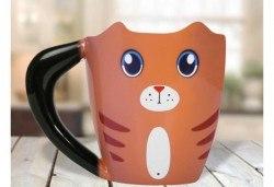 Вземете оригинална чаша за офиса или у дома във формата на коте! - Снимка