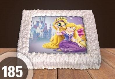 Торта за момичета! Красиви торти със снимкa на принцеси, феи и герои от филмчета за всички малки госпожици от Сладкарница Джорджо Джани! - Снимка