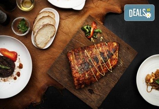 Вземете плато Leo със сочни ребърца, пържени картофки и шопска салата от ресторант-барбекю 79 Stories! - Снимка 2