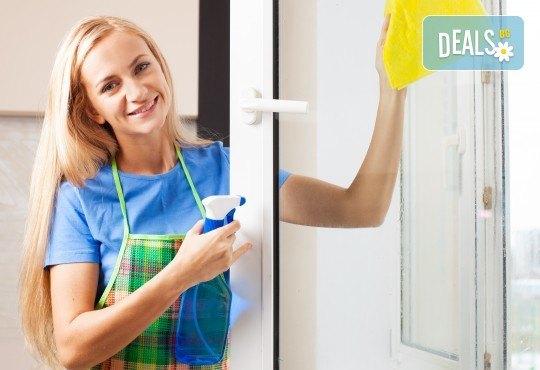Двустранно почистване на прозорци и дограма на двустайно, тристайно или четиристайно жилище от фирма QUICKCLEAN! - Снимка 1