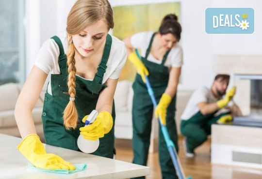 Абонаментно почистване на Вашия дом или офис до 60, 80 или 100кв.м - 4 посещения от професионално почистване TTClean! - Снимка 2