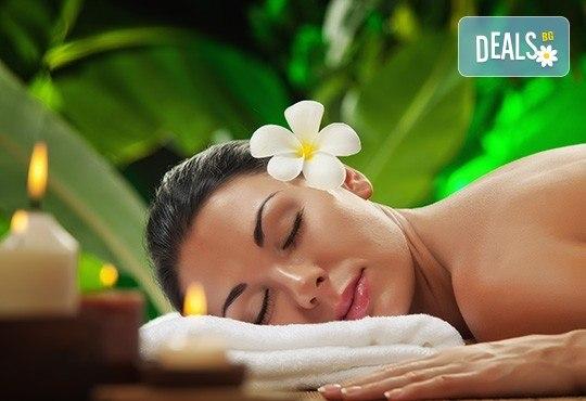 Хавайски релаксиращ масаж на цяло тяло, рефлексотерапия на стъпала, длани и скалп + масаж и маска на лице в Студио за красота VogBeauty! - Снимка 1