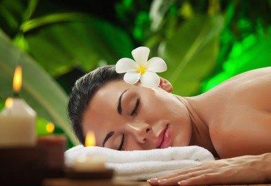 Хавайски релаксиращ масаж на цяло тяло, рефлексотерапия на стъпала, длани и скалп + масаж и маска на лице в Студио за красота VogBeauty! - Снимка