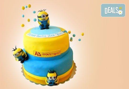 За момчета! Детска торта за момчета с коли и герои от филмчета с ръчно моделирана декорация от Сладкарница Джорджо Джани - Снимка 13