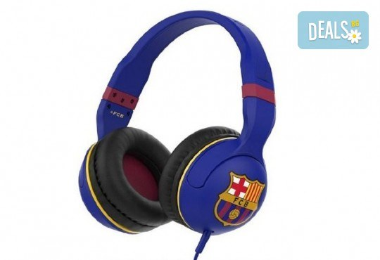 Слушалки Skullcandy с микрофон и логото на ФК Барселона